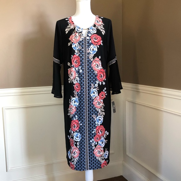 NWT Plus Size Column Dress By JM Collection. NWT